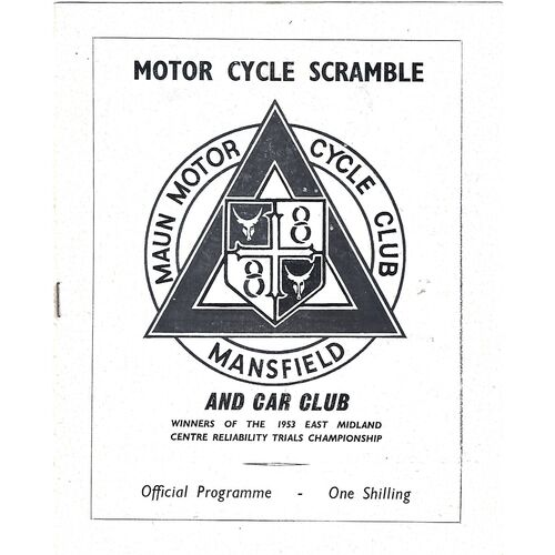 1965 Mansfield Maun Motor Cycle Club Sscamble (25/07/1965) Programme