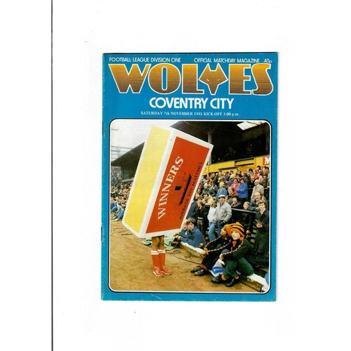 1981/82 Wolves v Coventry City Football Programme