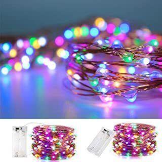 20 LED Multicoloured Christmas String Lights
