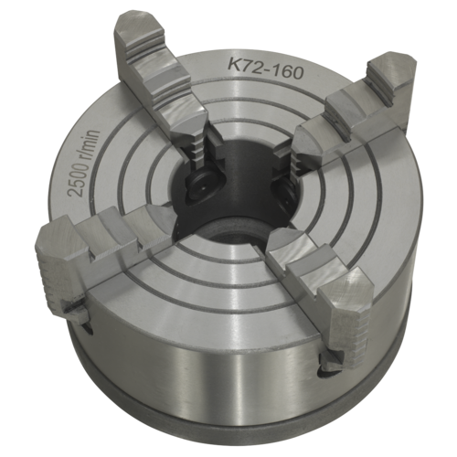 Independent Chuck 4-Jaw with Back Plate - Sealey - SM27FJC
