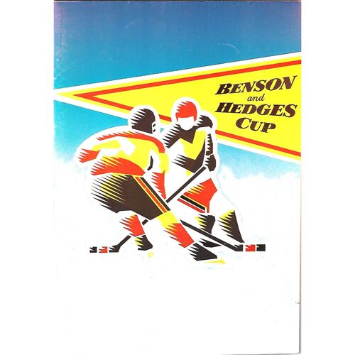 1996/97 Manchester Storm v Slough Jets (29/08/1996) Benson & Hedges Cup Ice Hockey Programme