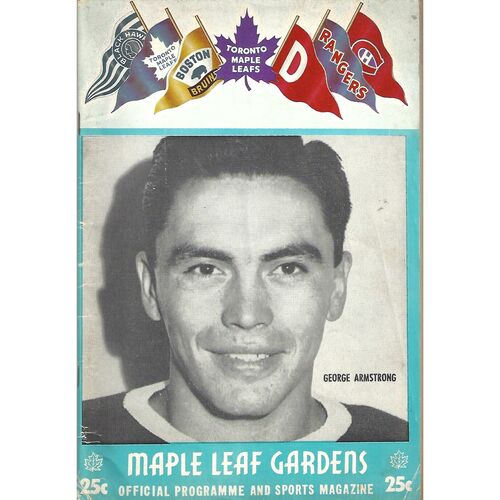 1957/58 Toronto Maple Leafs v Detroit Red Wings (12/10/1957) National League Ice Hockey Programme