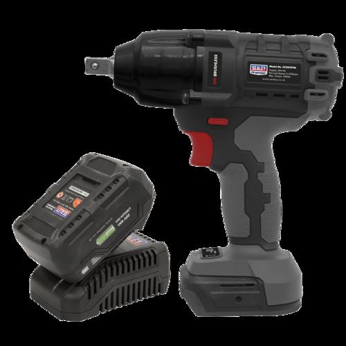"Brushless Impact Wrench Kit 1/2""Sq Drive 20V 4Ah 700Nm - Sealey - CP20VPIWKIT1"