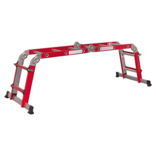 Aluminium Multipurpose Ladder EN 131 Adjustable Height - Sealey - AFPL2