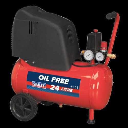 Compressor 24L Belt Drive 1.5hp Oil Free - Sealey - SAC02415
