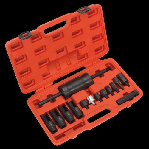 Diesel Injector Puller Set 14pc - Sealey - VS2059