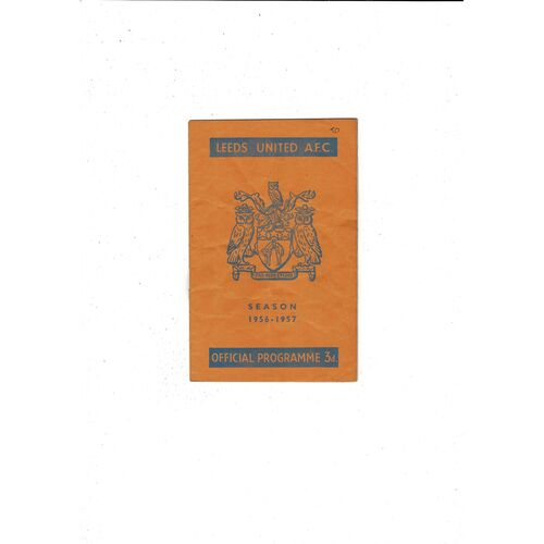 1956/57 Leeds United v Arsenal Football Programme