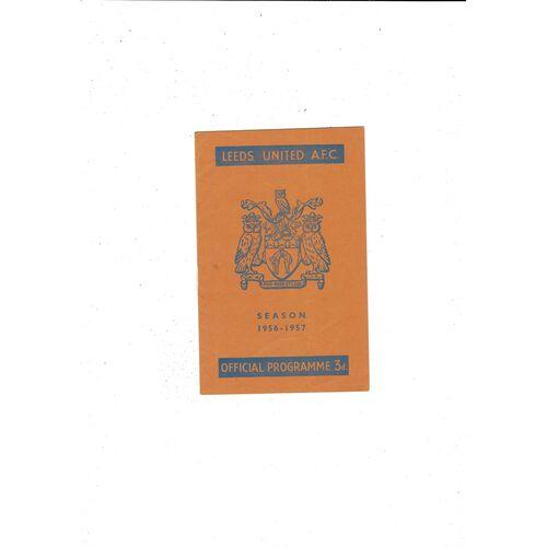 1956/57 Leeds United v Chelsea Football Programme