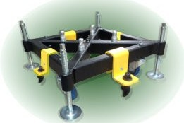 Replace ballast blocks with discreet solution for truss base anchoring