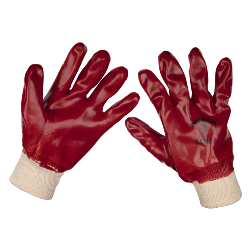 General Purpose PVC Gloves Knitted Wrist (Large) - Pack of 120 Pairs - Sealey - 9106L/B120