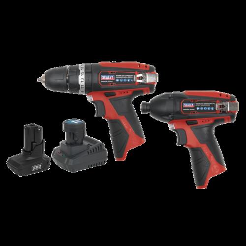 SV12 Series 2 x 12V Cordless Power Tool Combo Kit - Sealey - CP1200COMBO6