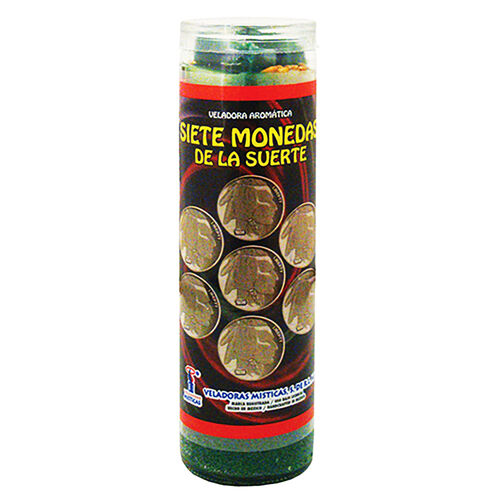 7 Lucky Coins Dressed Candle