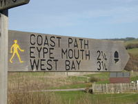 South West Coast Path at Seatown