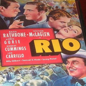 rio 1939 dvd basil rathbone
