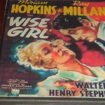 wise girl 1937 dvd ray milland miriam hopkins