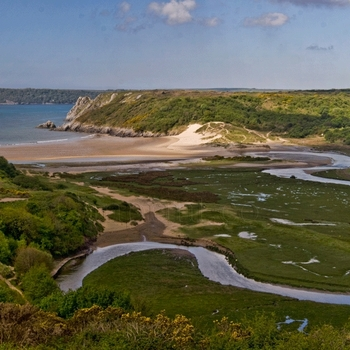 Three Cliffs Bay Panoramic Image