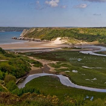 Three Cliffs Bay Panoramic Image