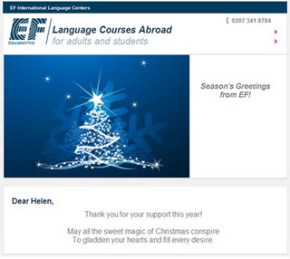 Christmas Greetings From Universities!