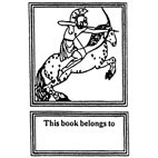 Archer on Horseback Rubber Stamp (Available in 3 sizes) from £6.89