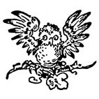 Baby Owl Rubber Stamp (Available in 3 sizes) from £6.89