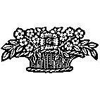 Basket of Flowers Rubber Stamp (Available in 3 sizes) from £6.89