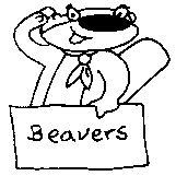 Beaver with Sign Rubber Stamp (Available in 3 sizes) from £6.89
