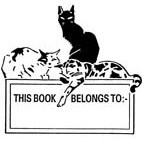 Belongs to. . Cats Rubber Stamp (Available in 3 sizes) from £6.89