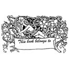 Belongs to. . Entwined Rubber Stamp (Available in 3 sizes) from £6.89