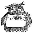 Belongs to. . Wise Owl Rubber Stamp (Available in 3 sizes) from £6.89