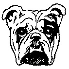 Bull Dog Face Rubber Stamp (Available in 3 sizes) from £6.89