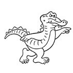 Cartoon Croc Rubber Stamp (Available in 3 sizes) from £6.89