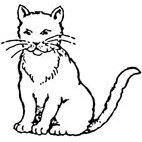 Cat (2) Rubber Stamp (Available in 3 sizes) from £6.89