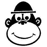 Cheeky Monkey Face Rubber Stamp (Available in 3 sizes) from £6.89