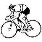 Cyclist Rubber Stamp (Available in 3 sizes) from £6.89