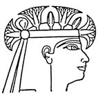 Egyptian Head Rubber Stamp (Available in 3 sizes) from £6.89