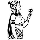 Egyptian Woman Rubber Stamp (Available in 3 sizes) from £6.89