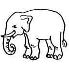 Elephant (2) Rubber Stamp (Available in 3 sizes) from £6.89