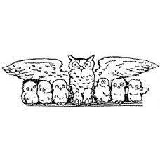 Family of Owls Rubber Stamp (Available in 3 sizes) from £6.89