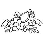 Flowers & Dove Rubber Stamp (Available in 3 sizes) from £6.89