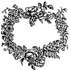 Garland of Flowers Rubber Stamp (Available in 3 sizes) from £6.89