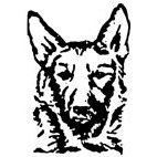 German Shepherd Dog Rubber Stamp (Available in 3 sizes) from £6.89