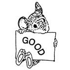 Good Mouse Rubber Stamp (Available in 3 sizes) from £6.89