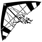 Hang Glider Rubber Stamp (Available in 3 sizes) from £6.89