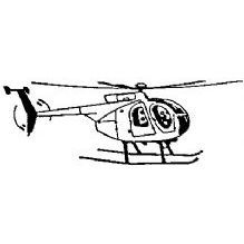 Helicopter Rubber Stamp (Available in 3 sizes) from £6.89