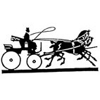 Horse & Trap Rubber Stamp (Available in 3 sizes) from £6.89