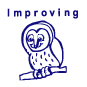 Improving Owl Motivational Stamp - HS010
