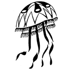Jelly Fish Rubber Stamp