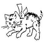 Kitten Rubber Stamp