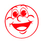 Laughing Face Motivational Stamp - HS023
