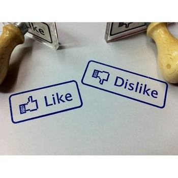 Like and Dislike Rubber Stamps